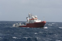 Fugro Equator operating in the search area in the southern Indian Ocean. Source_ ATSB, photo by Justin Baulch.mw1920